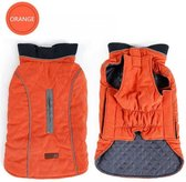 Gewatteerde Hondenjas Retro Style Orange mt XL