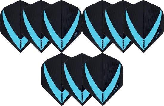 Dragon darts 3 sets (9 stuks) Super Sterke - Blauwe - Vista-X - flights - darts flights