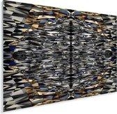 Schitterende vormen van de Titanic Belfast Plexiglas 80x60 cm - Foto print op Glas (Plexiglas wanddecoratie)