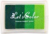 Stempelkussen Groen 8 x 5 cm - verlopende kleur