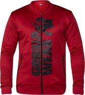Gorilla Wear Ballinger Track Jacket - Red / Black - XL