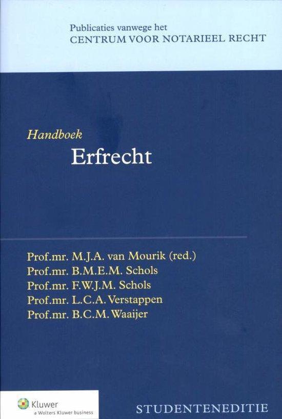 Handboek erfrecht - M.J.A. van Mourik |
