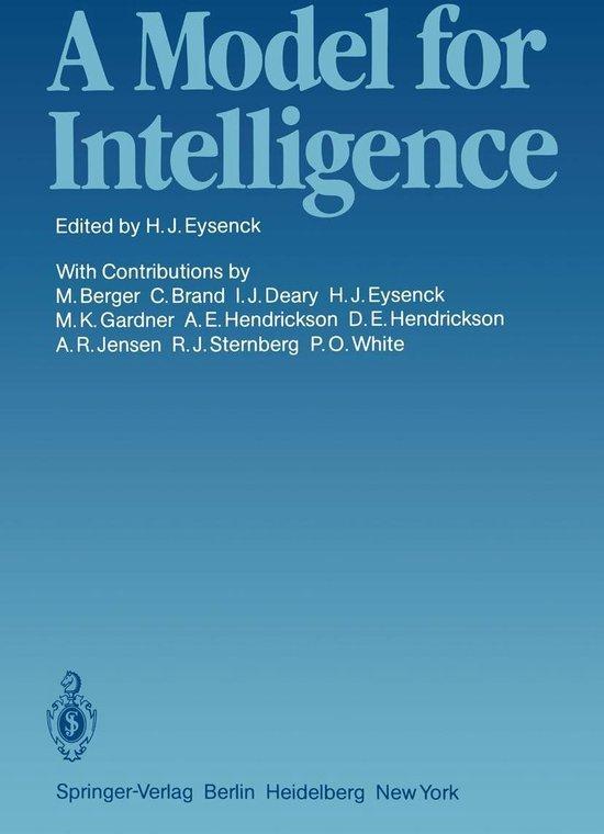 Boek cover A Model for Intelligence van
