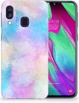 Back Case Samsung Galaxy A40 TPU Siliconen Cover Watercolor Light