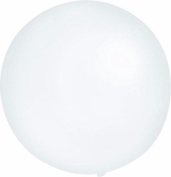 Grote ballon 60 cm transparant