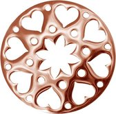 LOCKits 982500686 - Stalen munt - fantasie harten bloem - 25-1 mm - rosékleurig