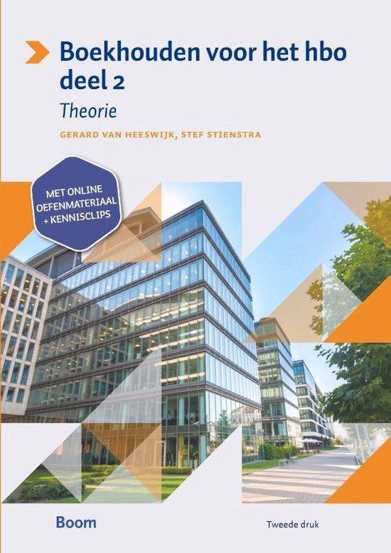 Boek cover Boekhouden voor het hbo 2 Theorieboek van Gerard van Heeswijk (Paperback)