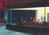 Poster Edward Hopper café Nighthawks luxe papier 50x70cm.