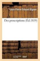 Des proscriptions