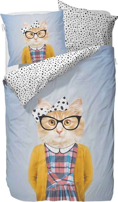 Covers & Co Miss Kitty - dekbedovertrek - eenpersoons - 140 x 220 - Blauw
