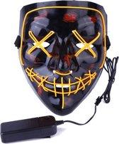 Led verlichting party masker Vendetta / Purge feest masker / halloween met meerdere standen.