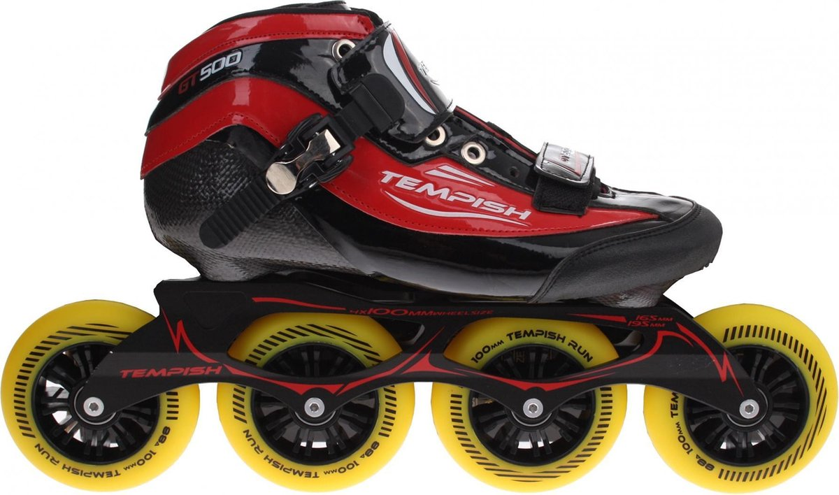 Tempish Gt 500 100 Inline Speed Skates Unisex Zwart/rood Maat 41