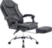 Clp Managerstoel CASTLE, met voetsteun, ergonomisch, kunstlederen bekleding - zwart