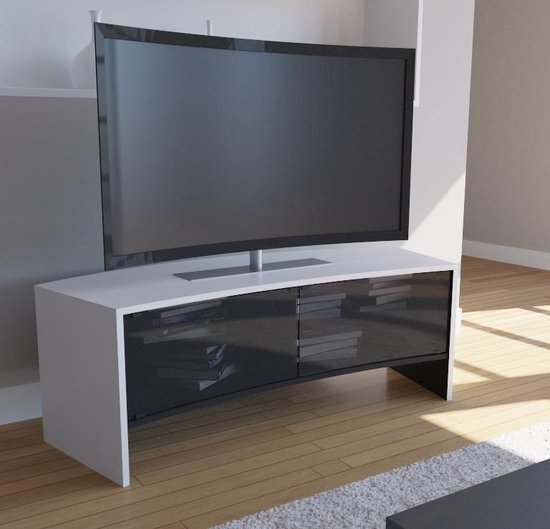Design Tv Meubel Kast.Bol Com Curved Tv Meubel Curved Tv Kast Curvedo Design Wit