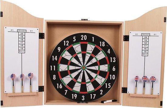 Thumbnail van een extra afbeelding van het spel Surround Dartkabinet - Inclusief dartbord + dartpijltjes