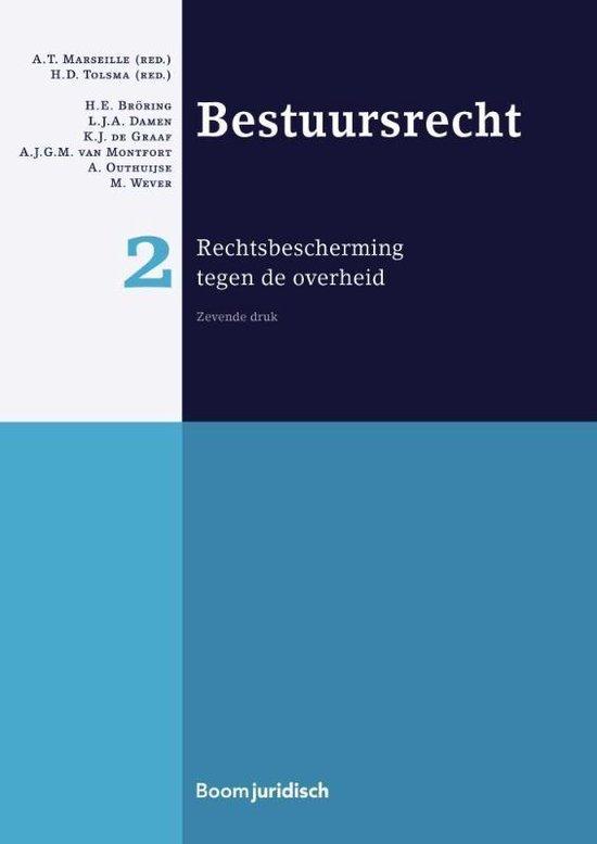 Boek cover Boom Juridische studieboeken  -  Bestuursrecht 2 rechtsbescherming tegen de overheid van A.T. Marseille (Hardcover)