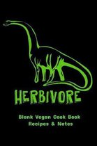 Blank Vegan Cook Book Recipes & Notes - Herbivore