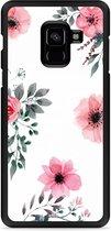 Galaxy A8 Plus 2018 Hardcase Hoesje Flowers