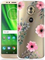 Moto G6 Play hoesje Flowers