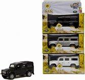 Speelgoed auto zilveren Land Rover 20 cm