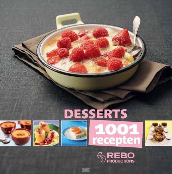 Cover van het boek '1001 recepten / Desserts' van  Onbekend