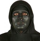 Halloween - Zwart effen halloween masker