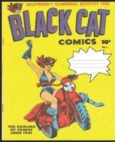 Black Cat Vintage Design College Ruled Composition Notebook