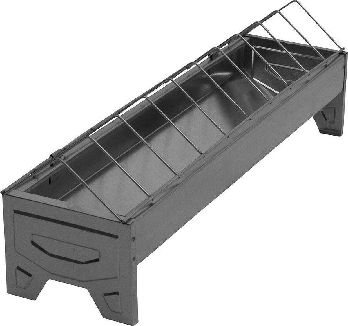 Pluimveevoerbak 50cm verzinkt draadgril - Animalcare Holland