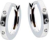 Glow oorringen - witgoud - diamant - 0.23ct - mat