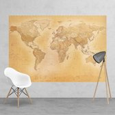 Fotobehang - Old map small - 232 cm x 158 cm - Multi