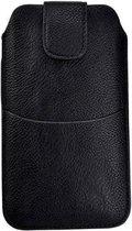 Nokia 3 Zwart insteekhoesje met riemlus en opbergvakje