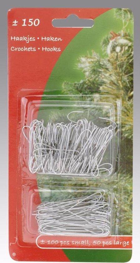 Kerstbalhaakjes zilver - 150 stuks