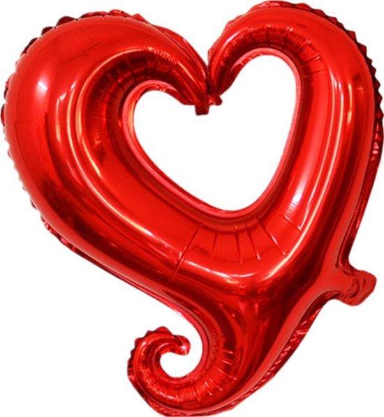 Folieballon Fantasie hart rood 45 cm