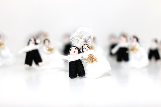 Gelukspoppetje Bruidspaar, gemaakt door Nilza in Brazilie (5) stuks - Barbosa Fair trade
