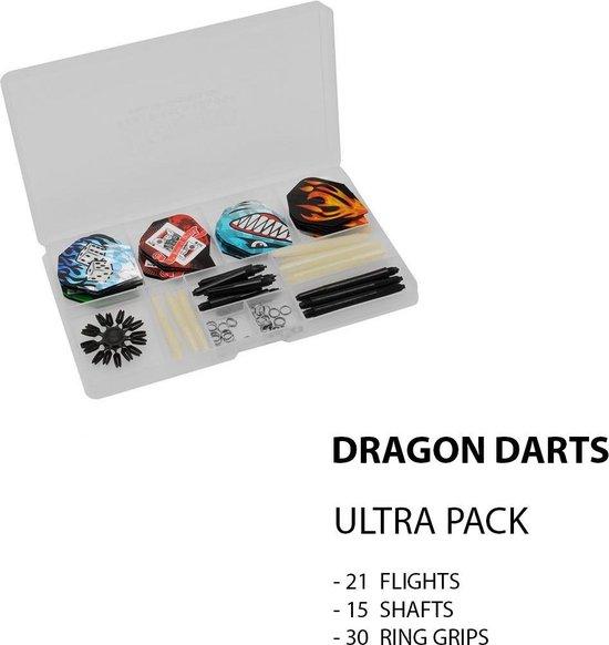 Dragon - ULTRA DARTS ACCESSOIRES SET - 67 pieces Complete Steeltip Giftset - dartpijlen - giftset