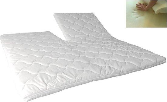 Slaaploods.nl Splittopper - Traagschuim Comfort - 160x210 cm - Dikte 8 cm