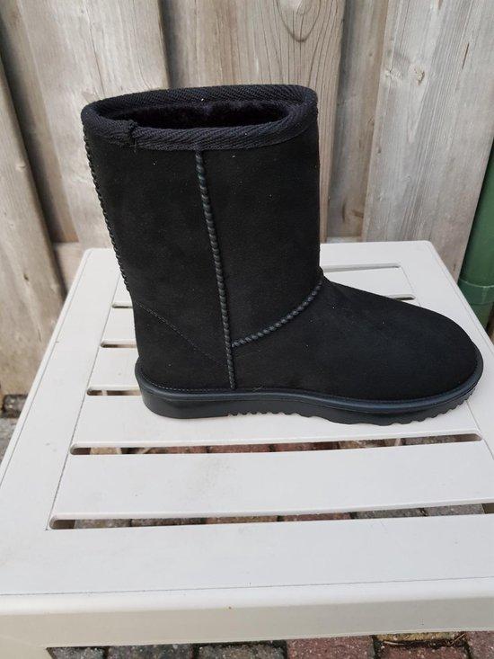 Davos waterdicht en bontgevoerde (stal)schoen  zwart maat 38