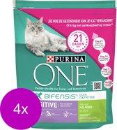 Purina One Sensitive - Kattenvoer - 4 x Kalkoen Rijst 800 g