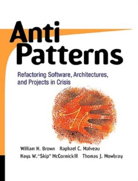 Boek cover AntiPatterns van William J. Brown (Paperback)
