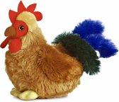 Pluche hanen knuffel 15 cm - knuffeldier / knuffels