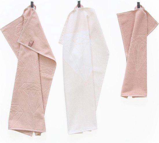 Giftset Towels Diamond Roze