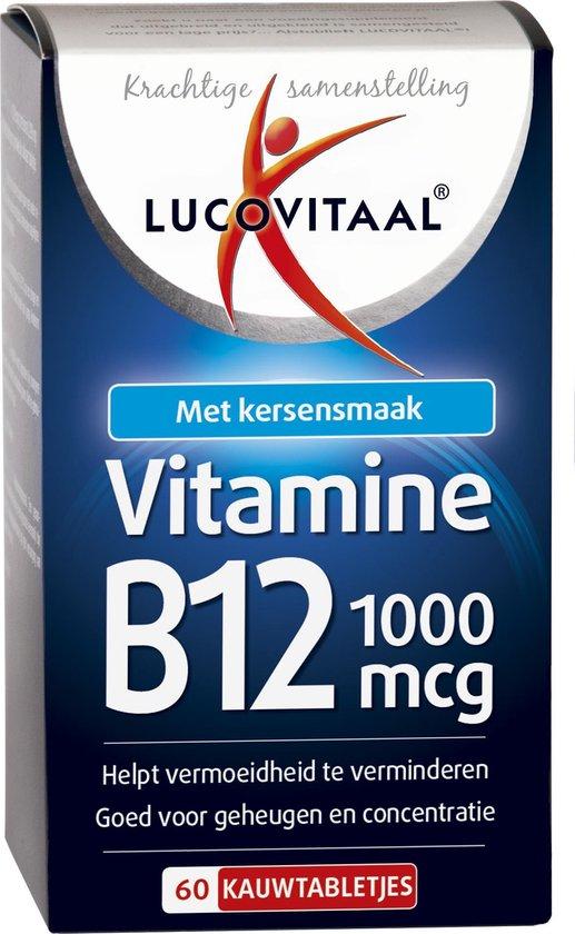 Lucovitaal Vitamine B12 1000 micogram Voedingssupplement - 60 kauwtabletten - Kersensmaak
