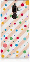 Nokia 7 Plus Standcase Hoesje Design Dots