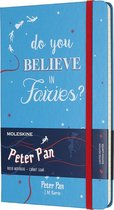 Moleskine notitieboek Peter Pan - Fairies Malachite Green - Large - Hard cover - Gelinieerd