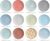Cosy&Trendy Crazy Mix Plat Bord - Ø26,8 cm - 6 stuks - Verschillende Designs