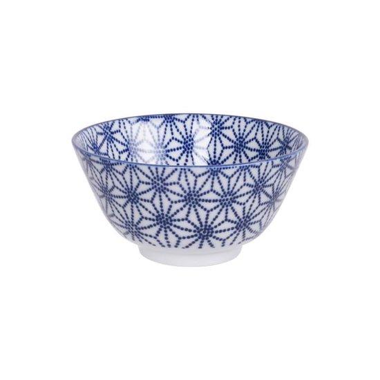 Tokyo Design Studio Nippon Blue Set van 4 Kommen - Diameter Ø 12 cm - In fraaie Geschenkdoos - Tokyo Design Studio