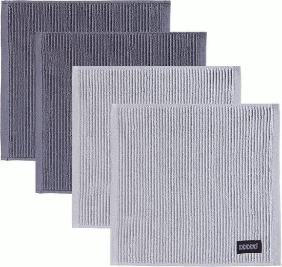 DDDDD Vaatdoek Basic Neutral Grey/Light Grey (2 + 2 stuks)