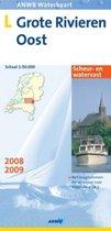 Anwb Waterkaart L Grote Rivieren Oost / 2008/2009 / Druk Heruitgave