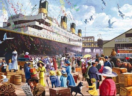 Puzzel 3 in 1  van 1000 stukjes - Titanic, Noorwegen en dieren