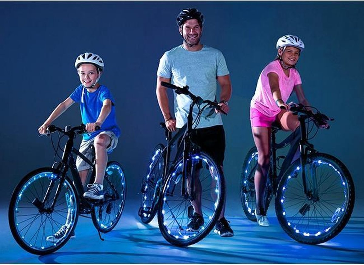 Wheely Bright Blauw - 2 stuks - Fietswielverlichting